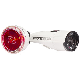 SIGMA SPORT Sportster + Mono Fietsverlichting sets wit